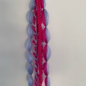 Fun ponytail braid extensions, attached easily